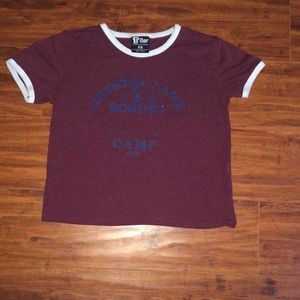 Crystal Lake Scouts Camp Crop Shirt, Size XS
